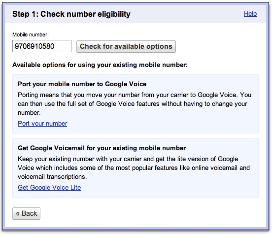 Google voice for real estate professionals once youve entered your number you will have two options this guide is for google voice lite so click the lower option m4hsunfo