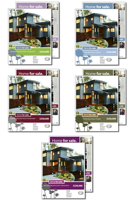 Home For Sale Real Estate Brochure now available in five color – Home for Sale Brochure