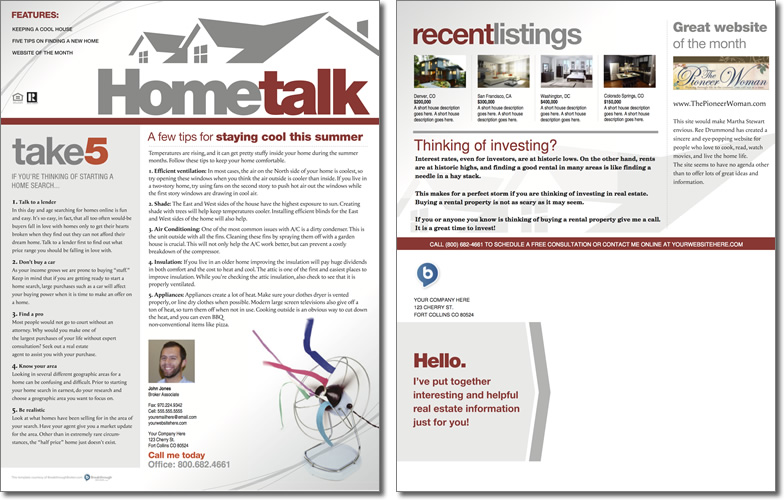 Hometalk Newsletter Template Issue 1 – Real Estate Newsletter Template