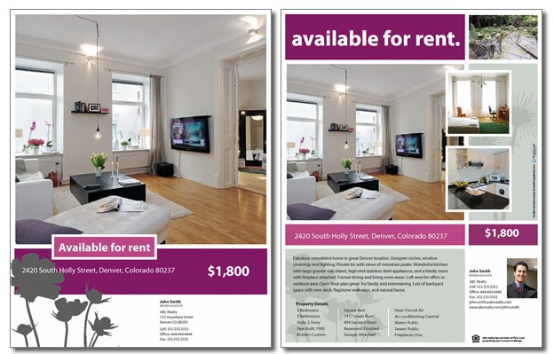 Breakthrough Broker  For Rent Flyer Template