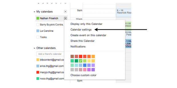 How To Share A Google Calendar With Non Google Users