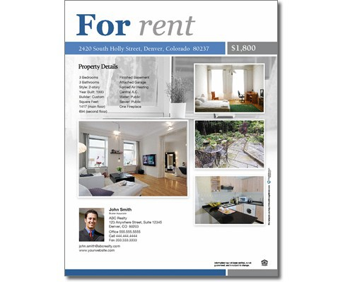 Rental Property Flyer Template Acurnamedia