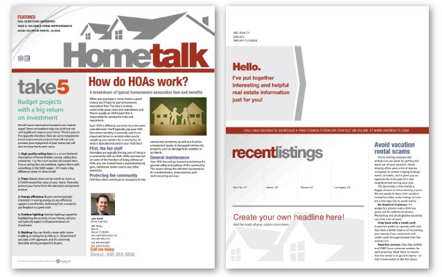 Hometalk Newsletter Template: Volume 4, Issue 7