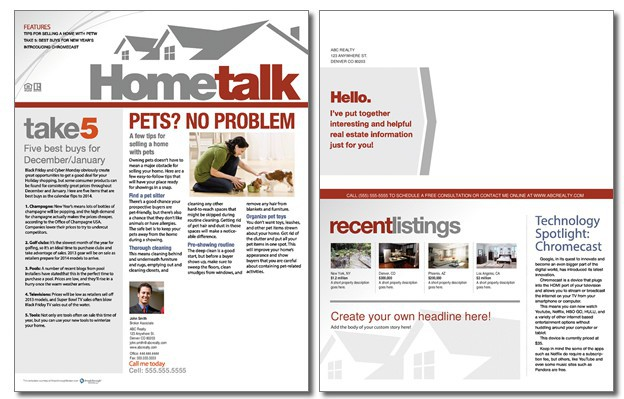 Hometalk Newsletter Template: Volume 2, Issue 11
