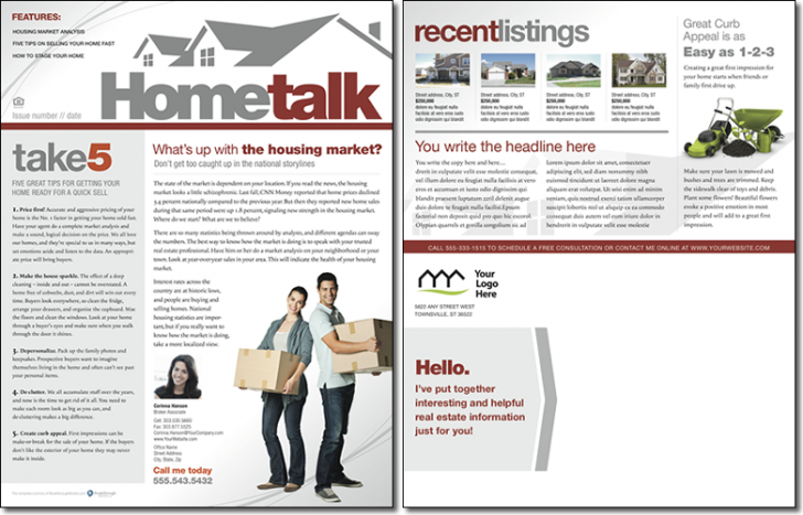 Hometalk newsletter template issue 0 for Realtor newsletter templates