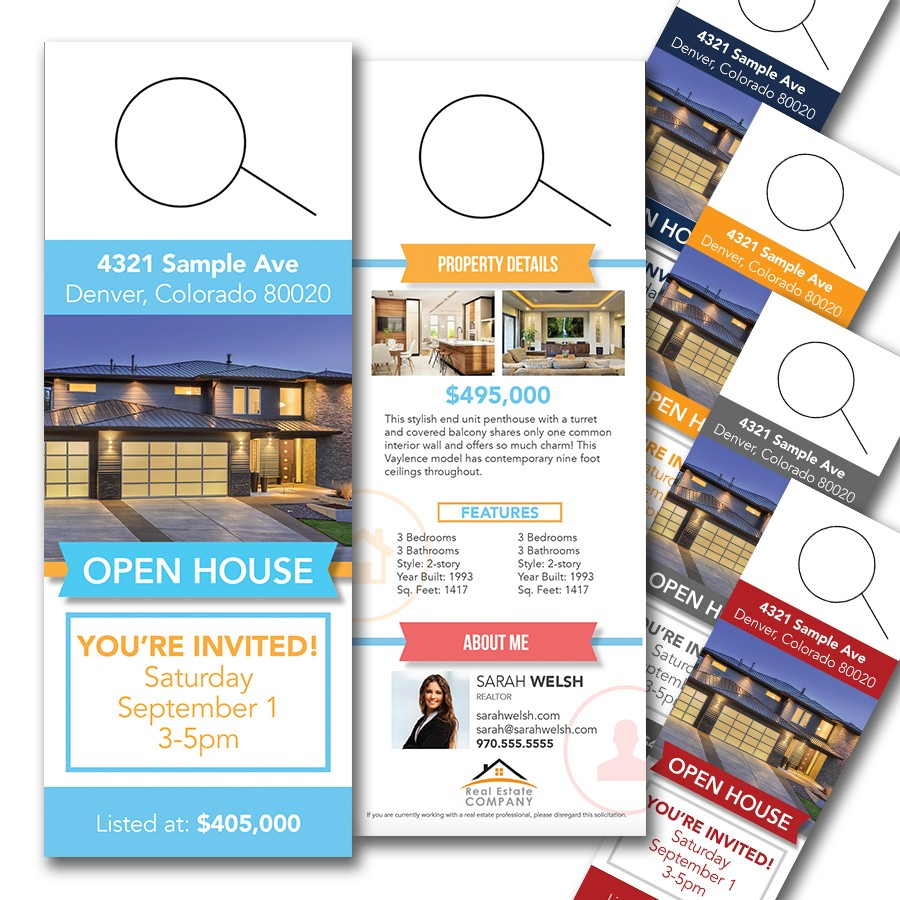 door hanger design real estate. Real Estate Door Hanger Prices Design E