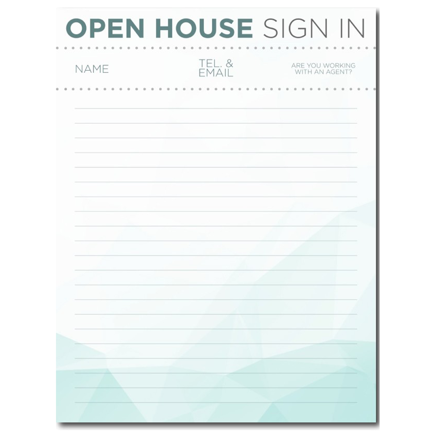 Free real estate templates for Realtor open house sign in sheet template