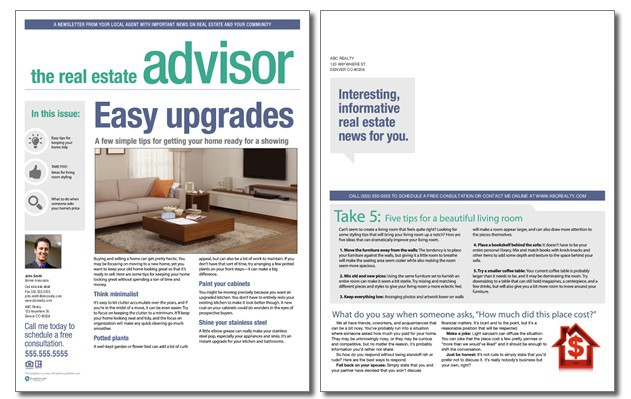 Real Estate Advisor Newsletter Template: Volume 3, Issue 12