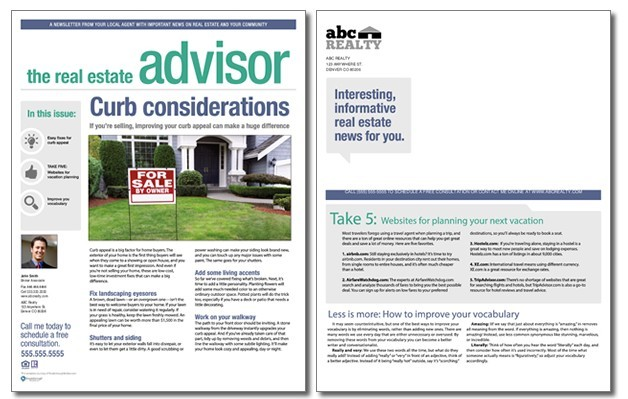 Real Estate Advisor Newsletter Template Volume 4 Issue 6 – Real Estate Newsletter Template