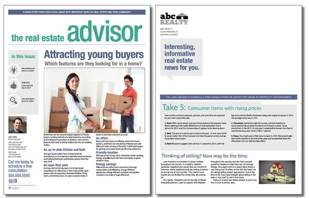 realtor newsletter templates - real estate advisor newsletter template volume 3 issue 3