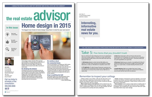 Real Estate Advisor Newsletter Template Volume 4 Issue 3 – Real Estate Newsletter Template