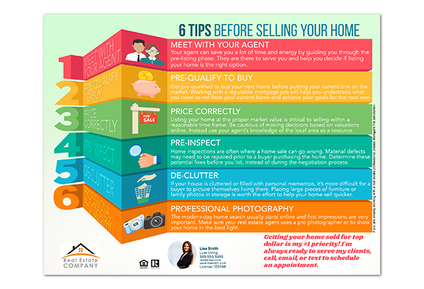 6 Tips Before Selling Your Home Infographic Selling Your Home Tips on home business tips, home security tips, home design tips, home inspection tips, home packing tips,