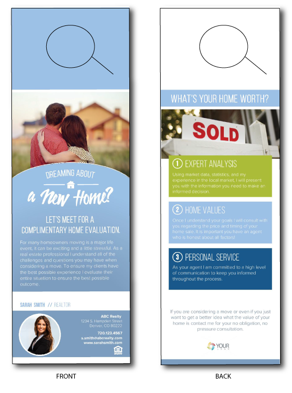 Real Estate Door Hanger Prices  sc 1 st  Breakthrough Broker & Home Evaluation Door Hanger