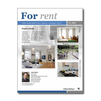 property brochure template - for rent flyers