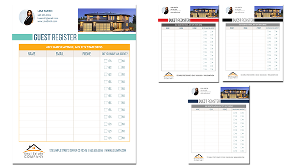 Real estate luxury listing brochure