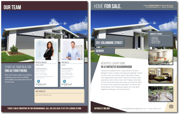 "Home For Sale Brochure Classy Contemporary ""home For Sale"" Brochure With Team Branding"