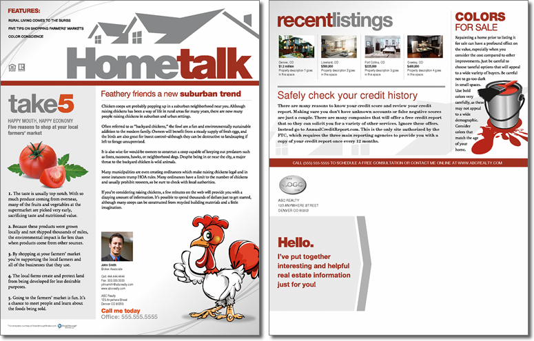 HometalkJune2012Full Realtor Newsletter Template on free printable monthly, classroom weekly, microsoft word, microsoft publisher, free office, fun company,