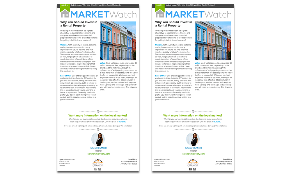 Real estate e-newsletter