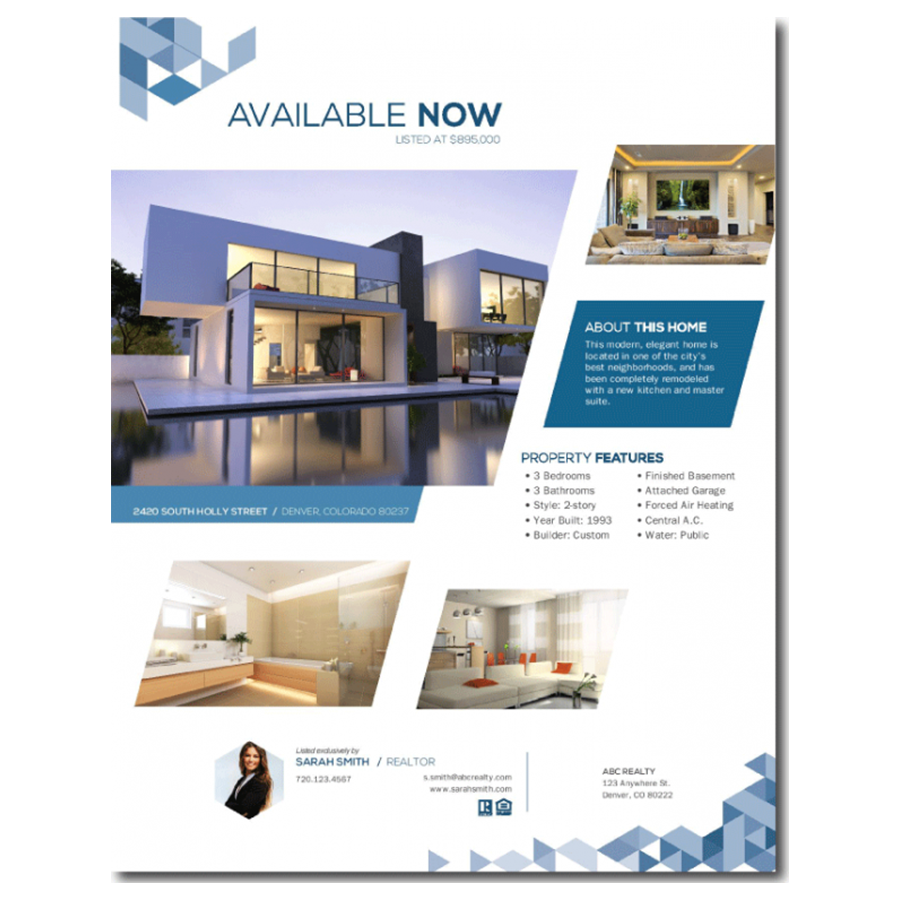 real estate information sheet template