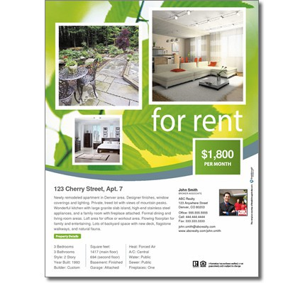For Rent Flyer