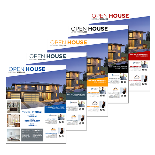 Real estate team open house flyer