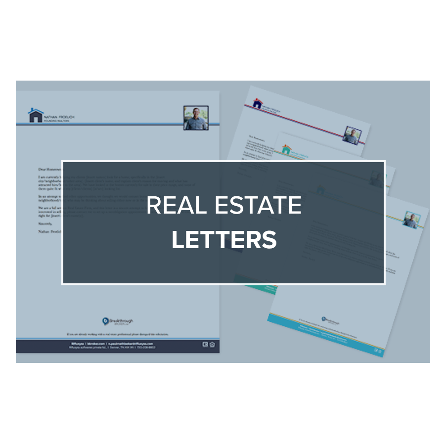 free real estate letter templates breakthrough brokers