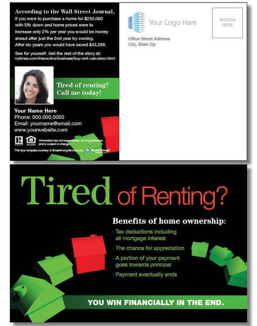 Quot Tired Of Renting Quot Postcard