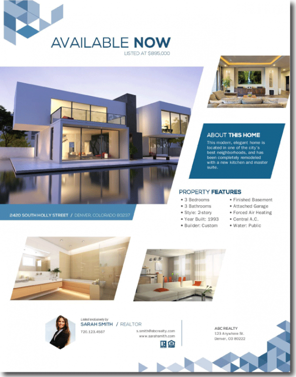 Real estate brochures for House brochure template