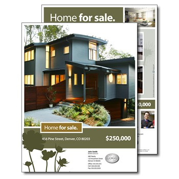 Real estate brochures for House for sale brochure template