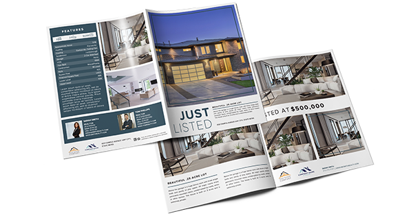 Real estate luxury listing brochure