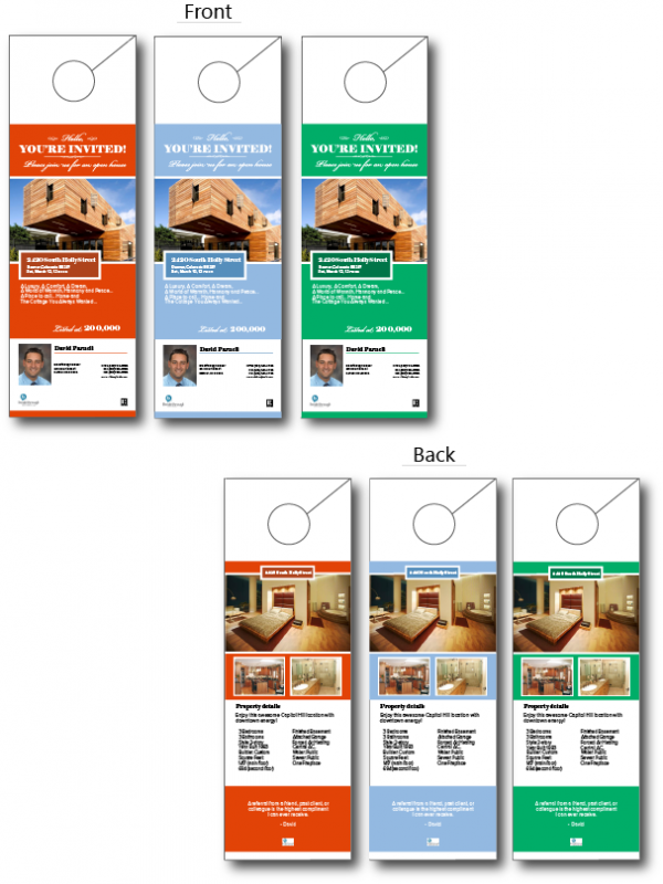Real Estate Door Hangers - Real estate door hanger templates