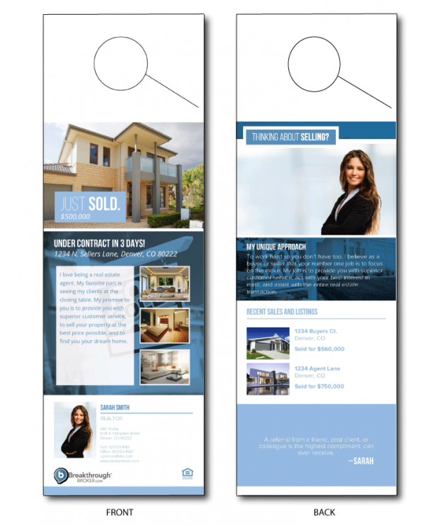 Real Estate Door Hanger Template real estate door hangers