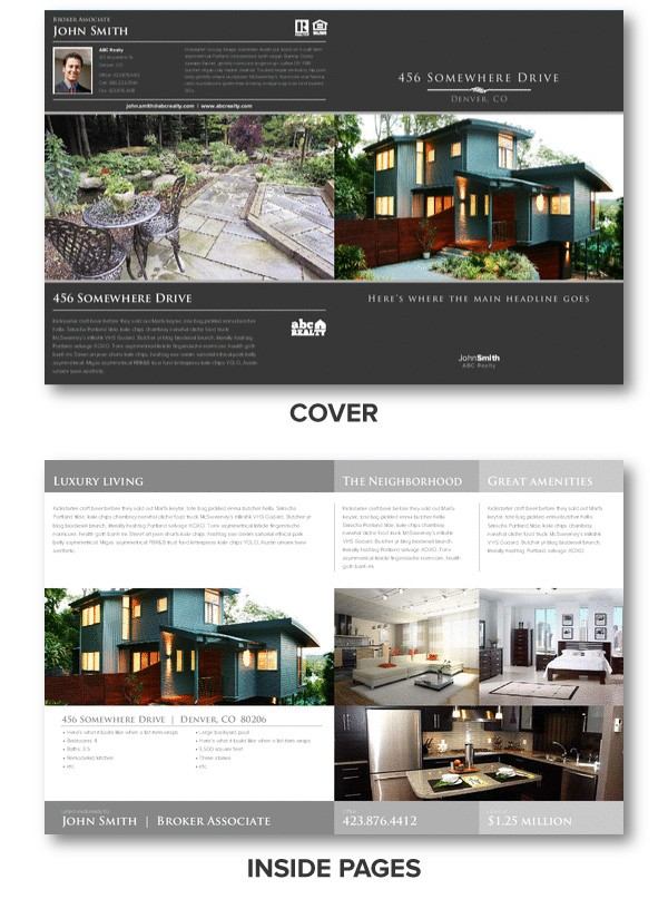 luxury brochure template - real estate brochures