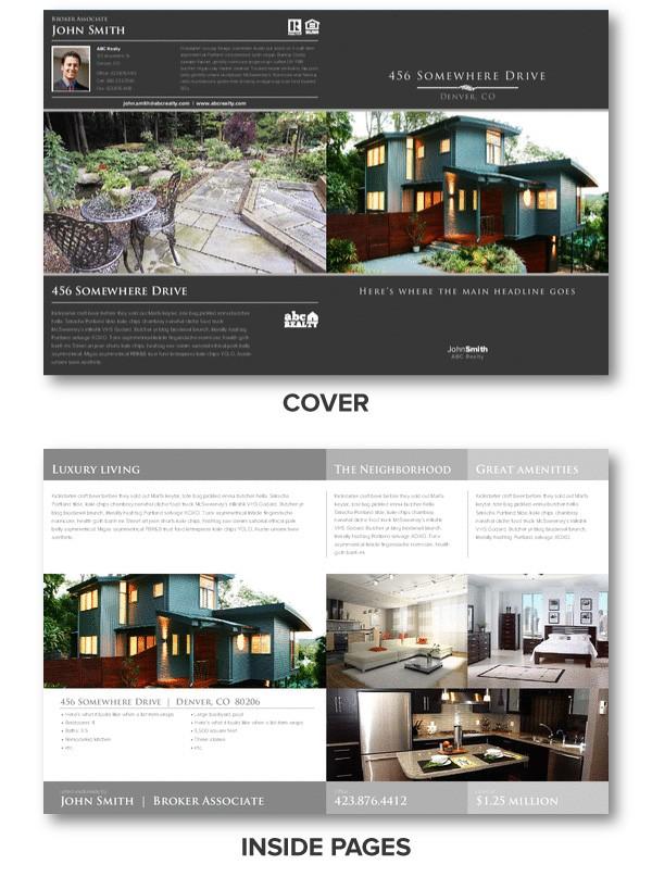 Real estate brochures for Luxury brochure template