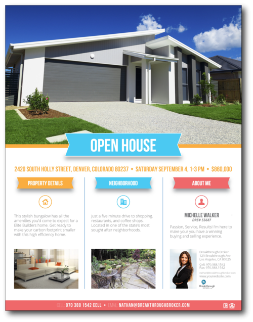 Open house resources for Open house brochure template
